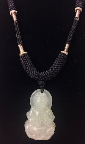 Jade Kwan Yin on Knotted Cord
