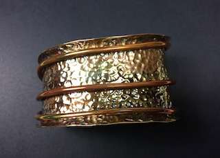 Hand Hammered Copper Cuff Bracelet SOLD