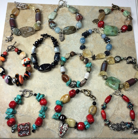 Assorted Natural Stone Bracelets-  SALE!