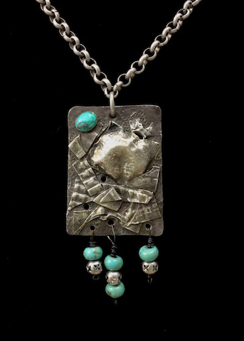 """Graffiti in 3-D""  Inspired Necklace - SOLD"