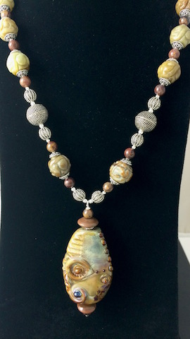 Relic and Natural Jadeite Necklace - SOLD