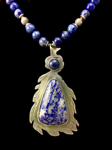 Genuine Custom Lapis and Sterling Silver Necklace