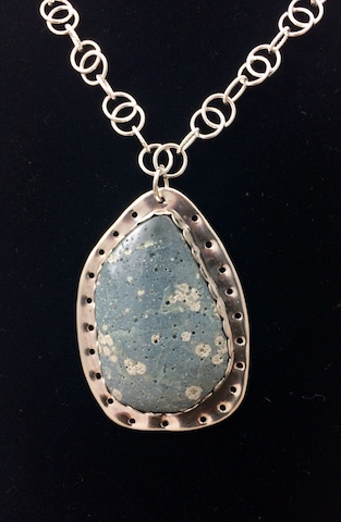 Michigan Leland Blue in Sterling Silver
