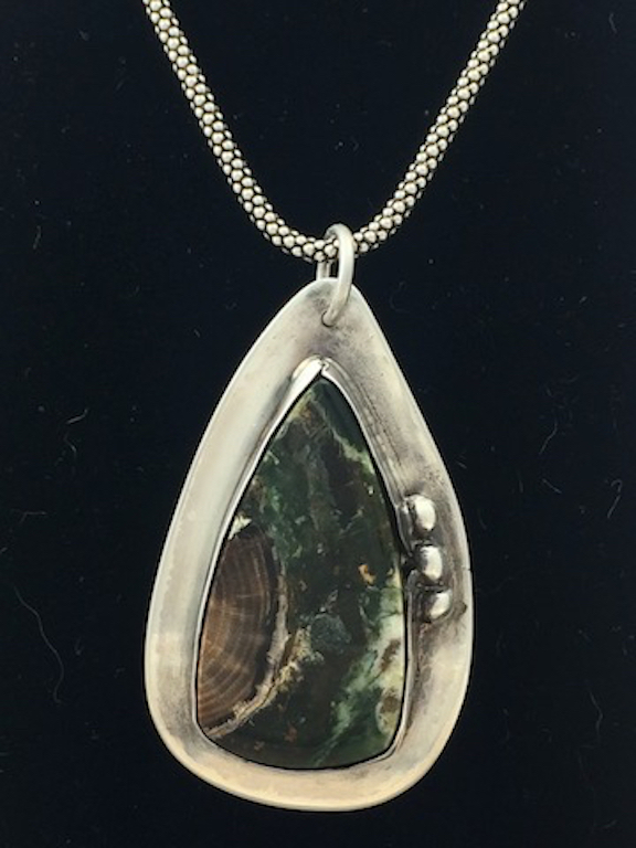 Petrified Wood in Sterling Silver