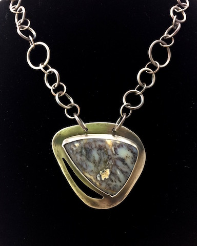 Dendritic (Moss) Opal in Sterling Silver - SOLD !