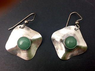 Sterling and Jade Earrings